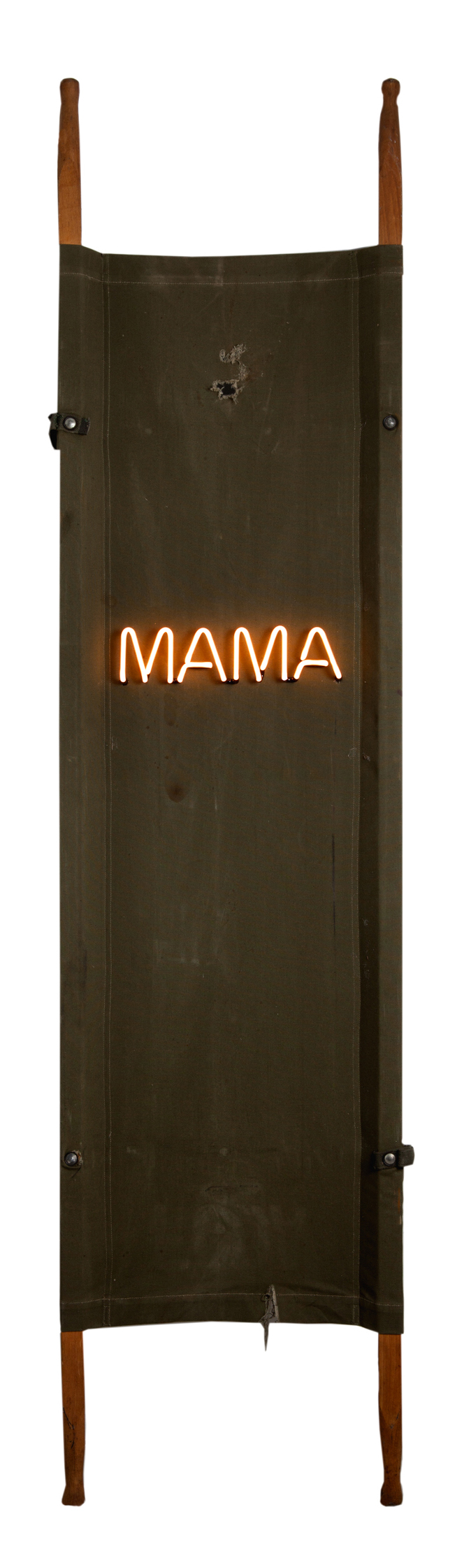 MAMA, 2016, Neon on Stretcher, 68 x 16 x 7 in