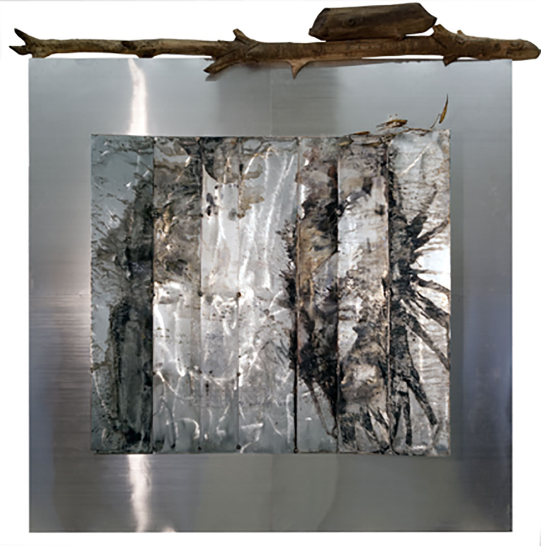 Beaver Lodge, 2011, Found objects and mixed media 84 x 72 x 20 in.