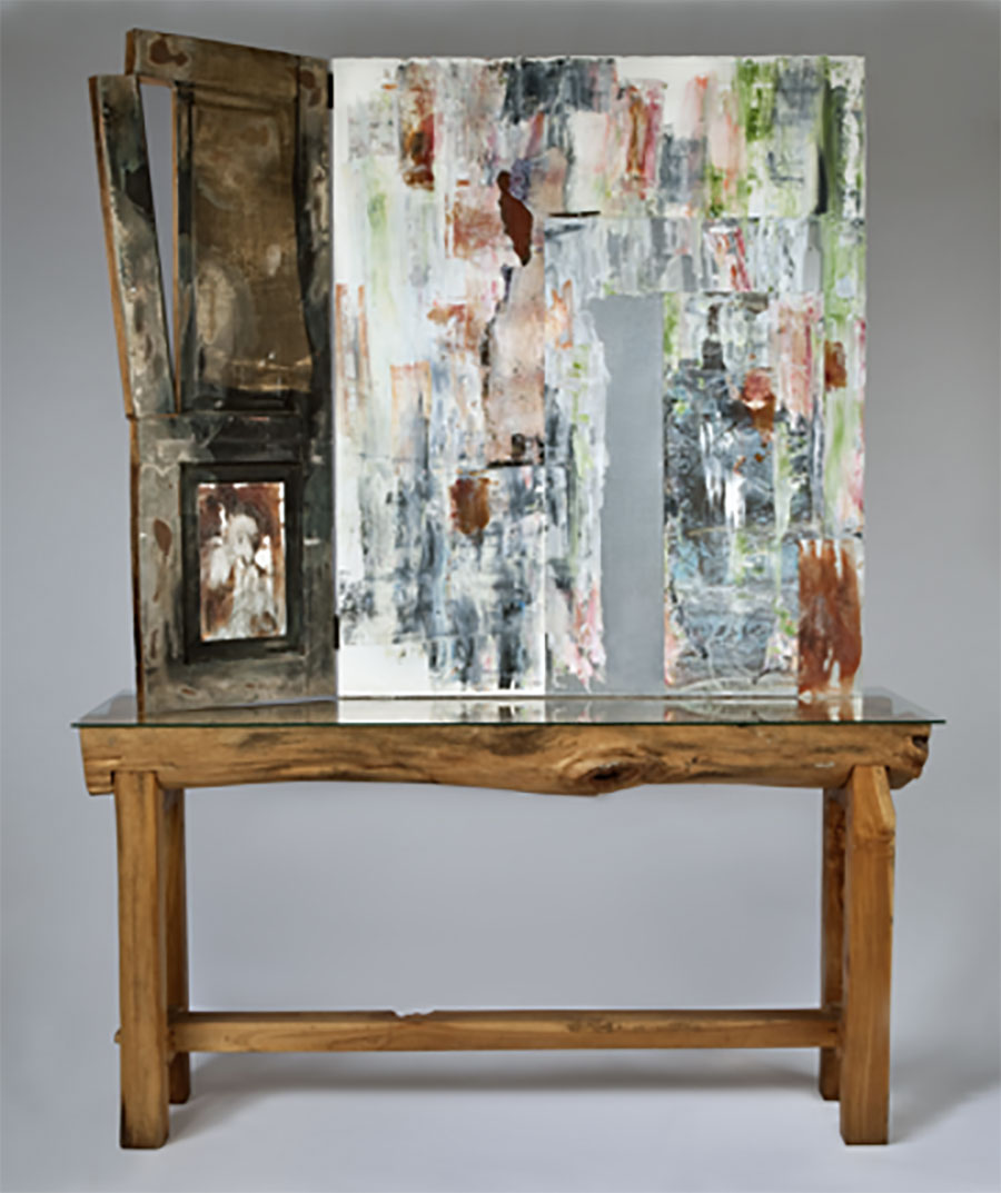 Portals, 2011. Mixed Media,	79 x 60 x 20 in