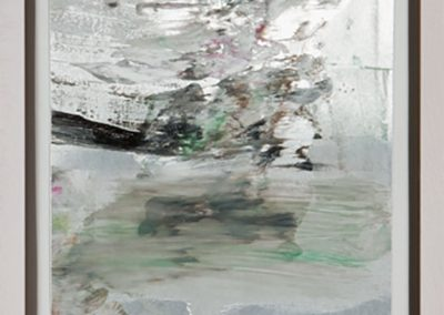 White Water, 2010, Oil on metal,36.5 x 36.5 in.
